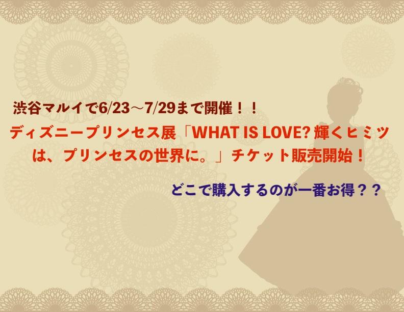 プリンセス展チケット